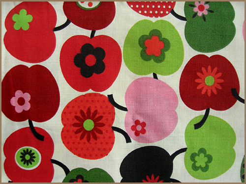 apple pattern fabric