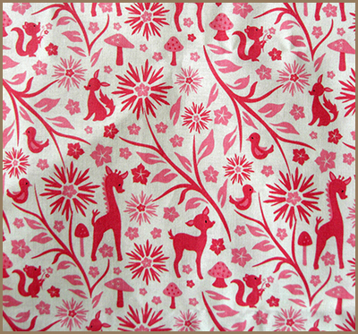 forest animalsfabric