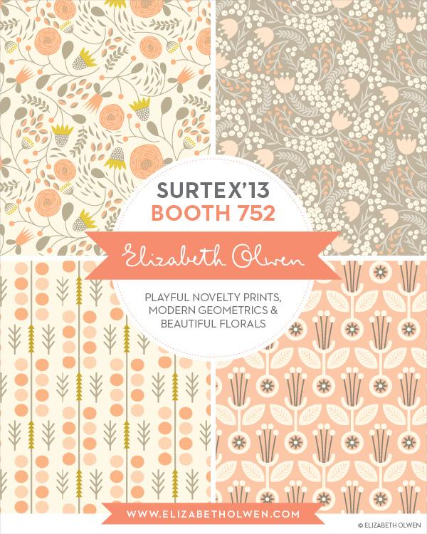 Elizabeth Olwen's flyer for the SURTEX