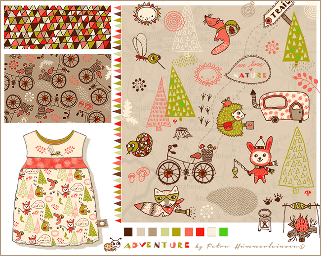 kids apparel artwork by Petra Haemmerleinova