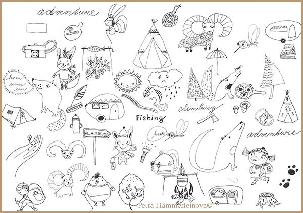 Petra Haemmerleinova camping sketches