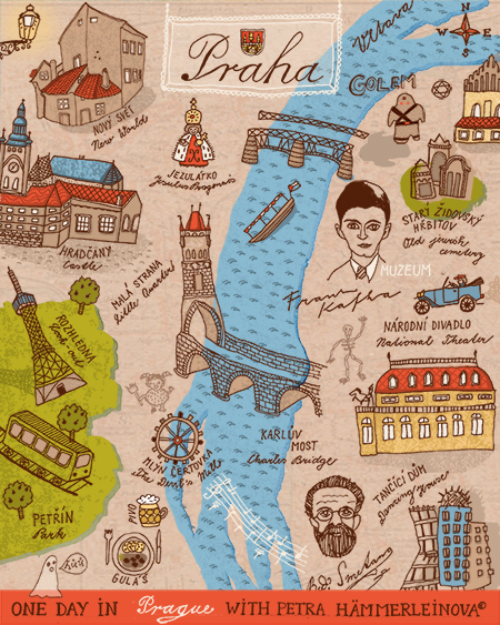 map prague by petra haemmerleinova