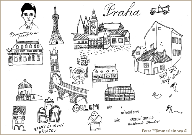 map sketches Petra Haemmerleinova