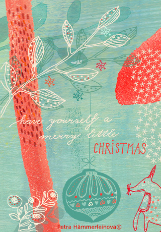 Petra Haemmerleinova christmas card fox