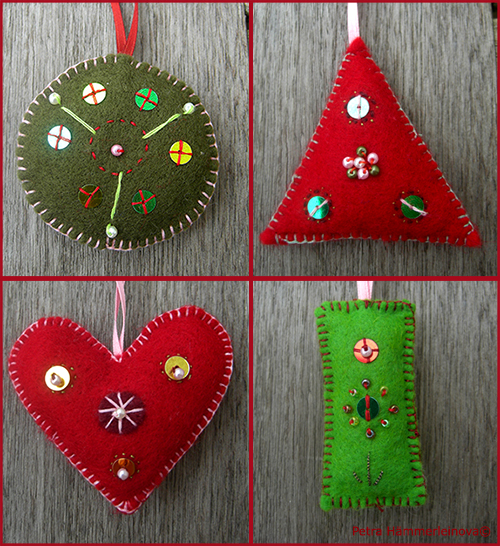 felt christmas ornaments by Petra Haemmerleinova