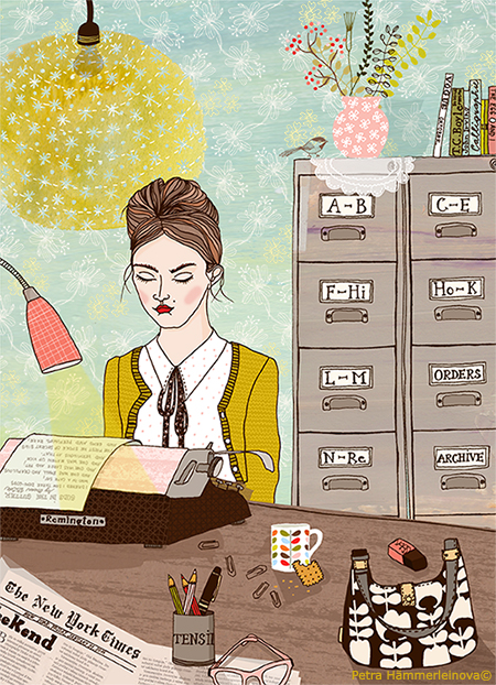 orla kiely illustration by Petra Haemmerleinova