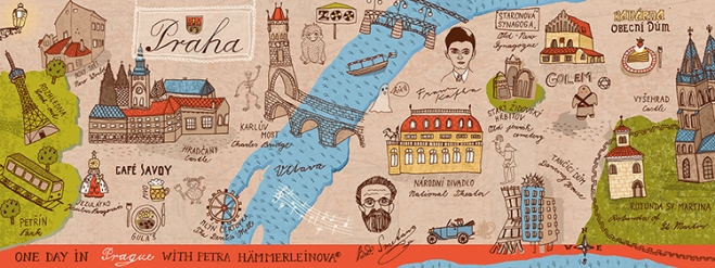 b Prague map by Petra Haemmerleinova