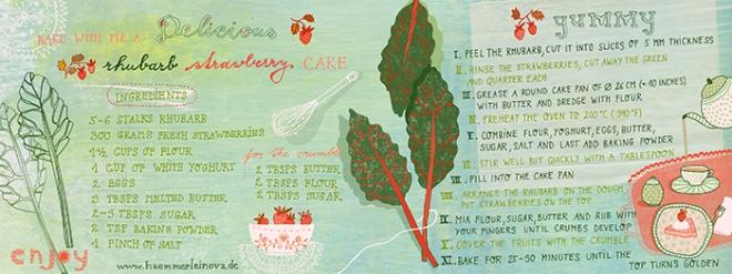 rhubarb cake 1 by Petra Haemmerleinova