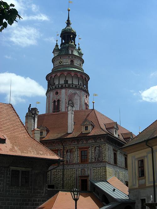 Cesky Krumlov castle/ tower