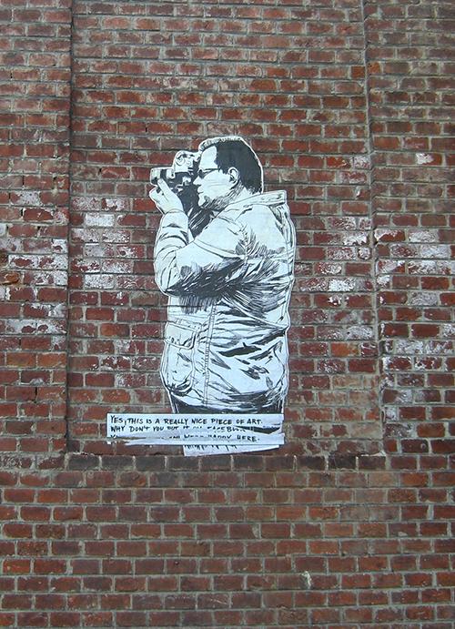Street art in Cesky Krumlov